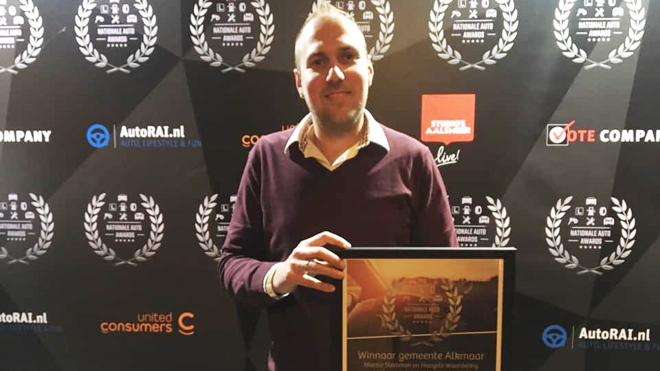 Ramon Woltheus met de Gold Award.